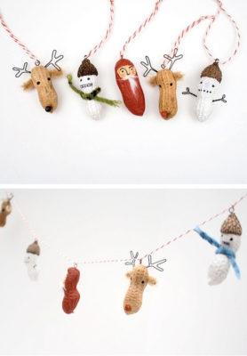Іграшки на ялинку з арахісу