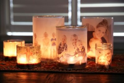 Свічники з сімейними фотографіями