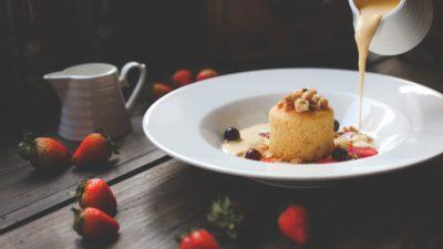 Десерт с кремом