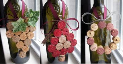 Декор пляшки на новий рік