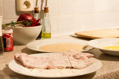 Отбивные из свинины: Панировочные сухари