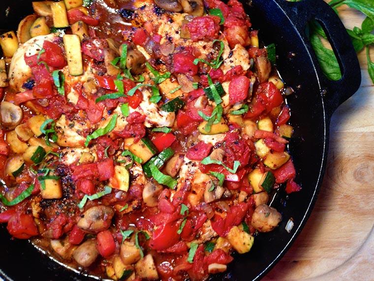 Куриное рагу с овощами