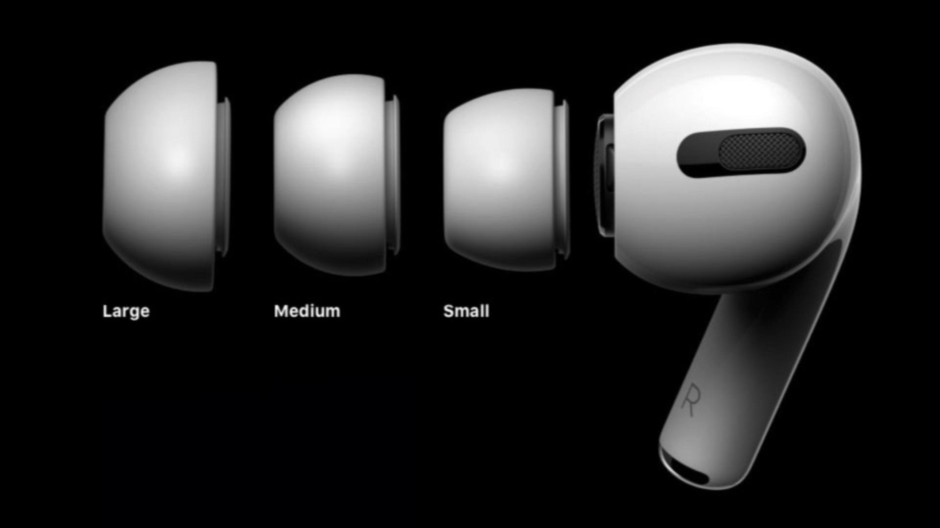 Обзор AirPods Pro_лучшие полностью беспроводные наушники от Apple - силиконовые накладки разных размеров