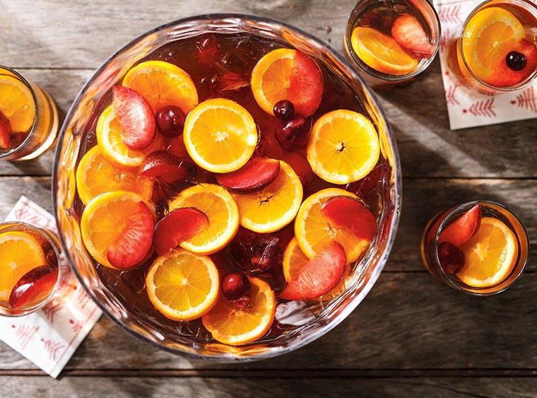 Рецепт цитрусового пунша с ромом