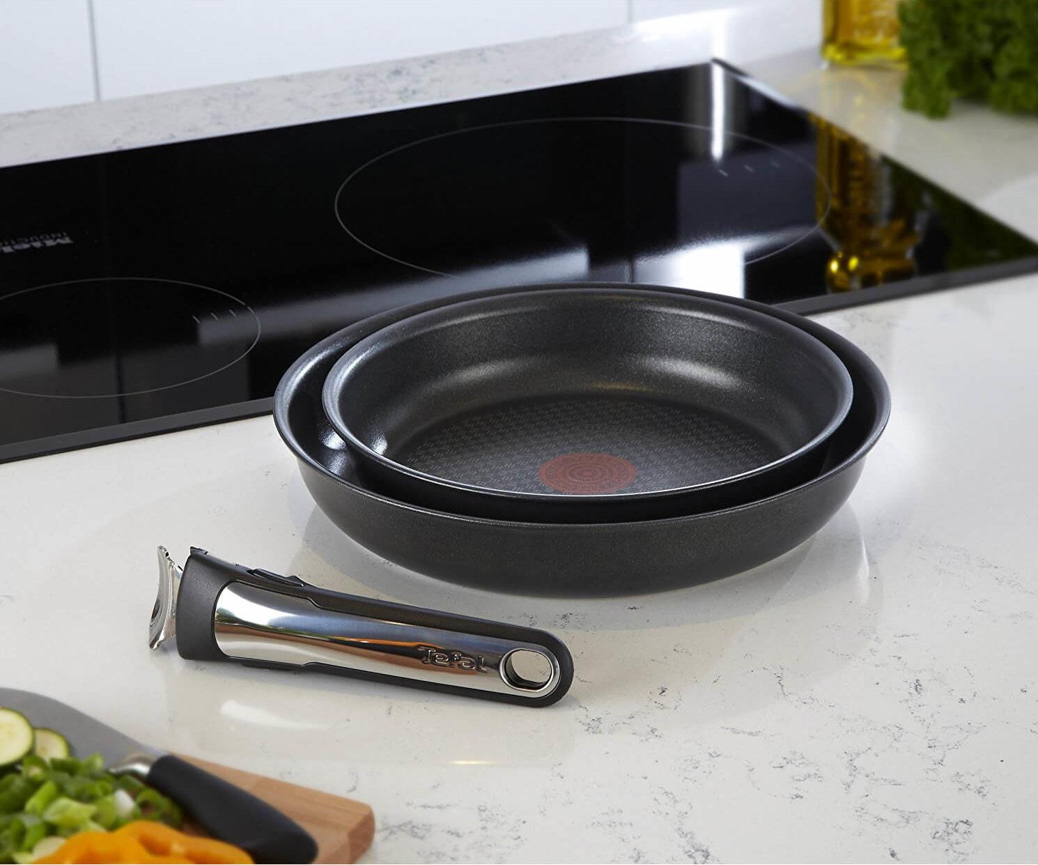 Tefal Ingenio. минимум места_максимум возможностей - съёмная ручка и сковородки