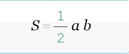 как рассчитать площадь треугольника