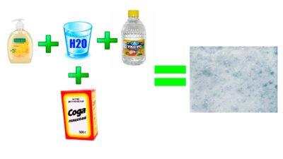 чистка килимів содою й оцтом