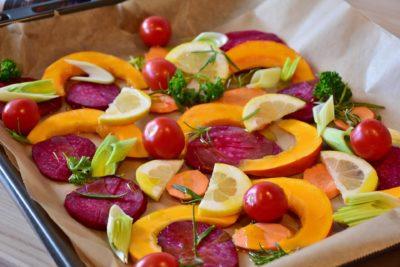 Запекаем овощи на салат