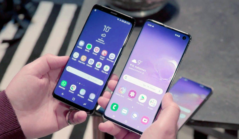 7 смартфонов флагманов 2019 года - galaxy s10 в руках