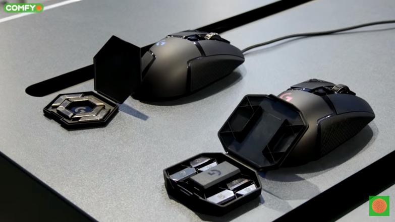 Распределение веса игровой мыши Logitech G502