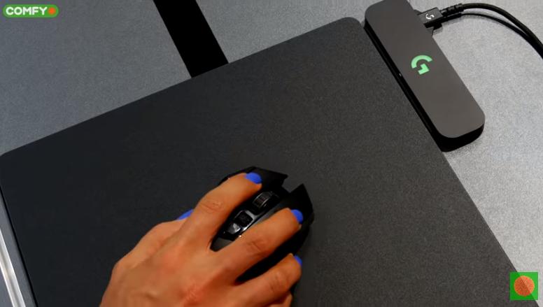 Беспроводная мышь Logitech G502 и коврик PowerPlay
