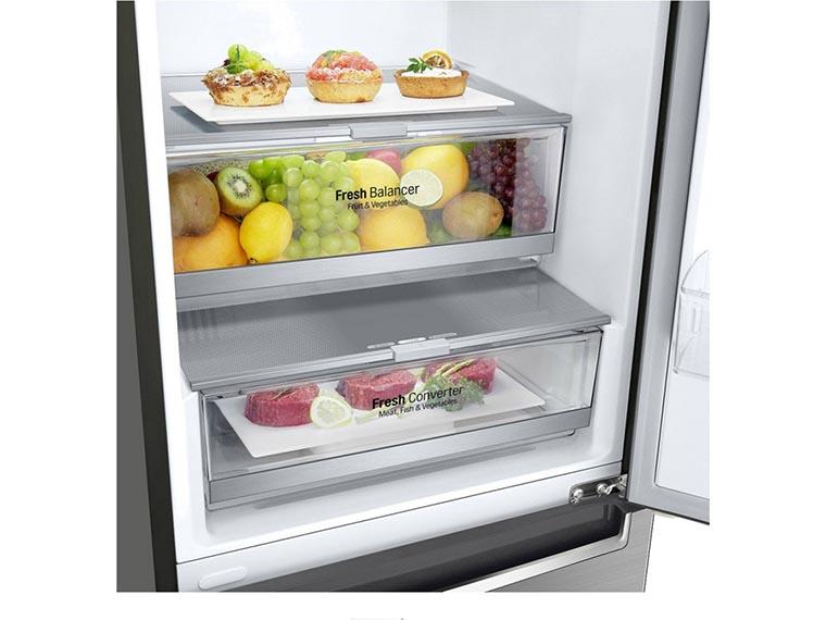 Холодильник LG GW-B509SMDZ зоны свежести