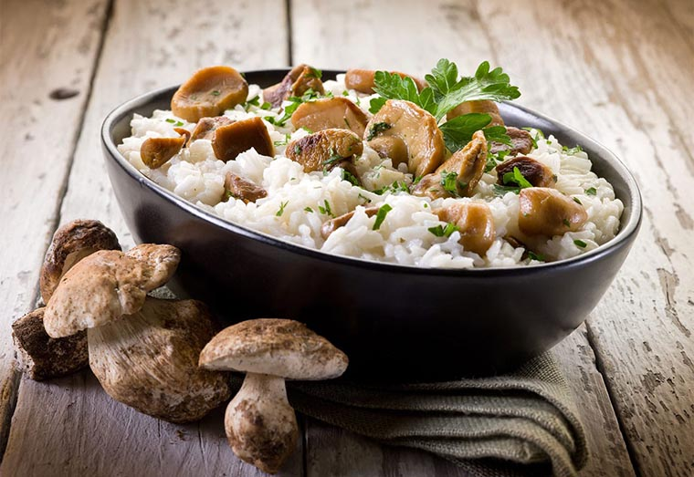 Как приготовить ризотто с грибами