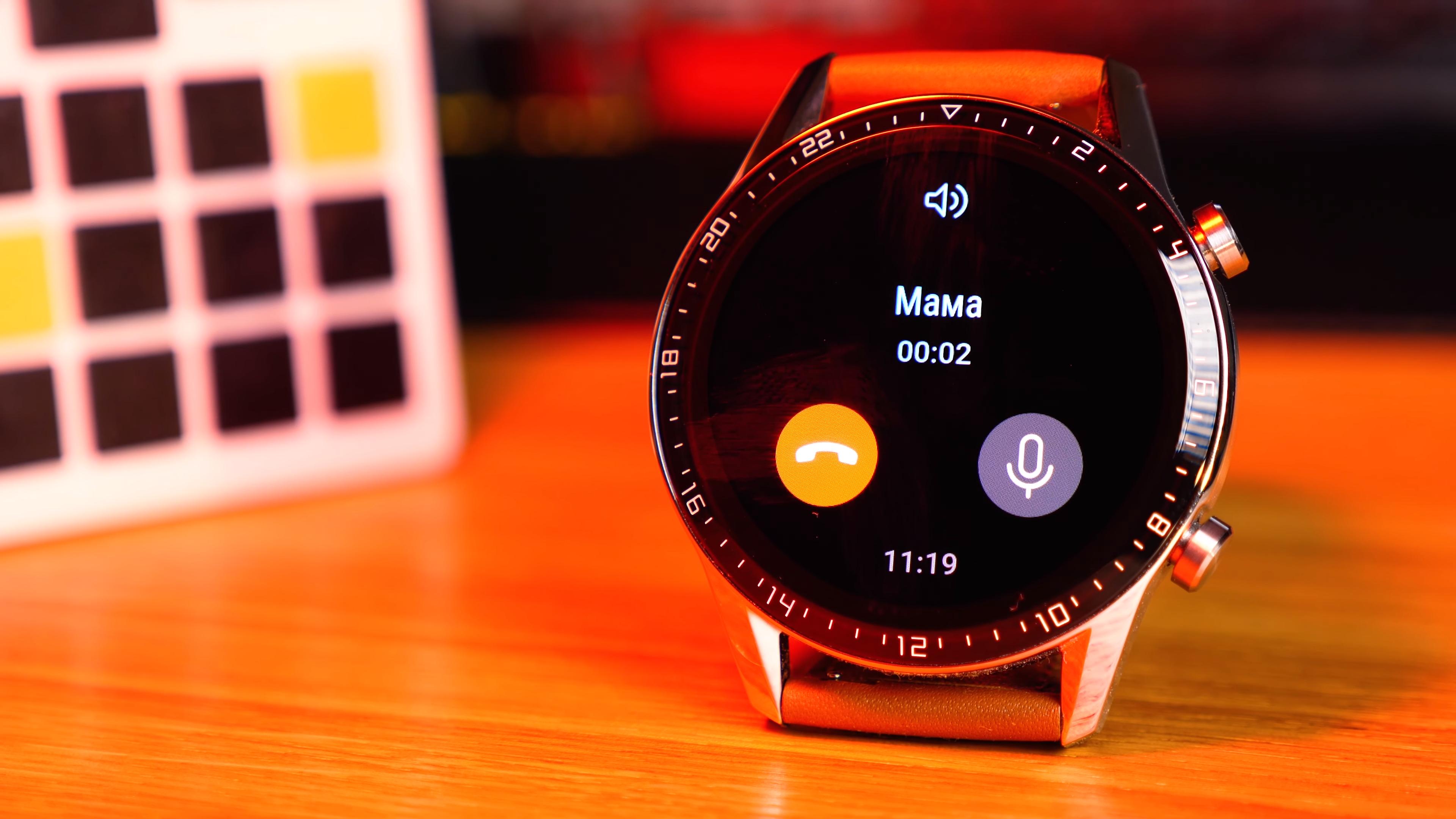 Обзор смарт-часов Huawei Watch GT2 - входящий вызов на смарт-часах