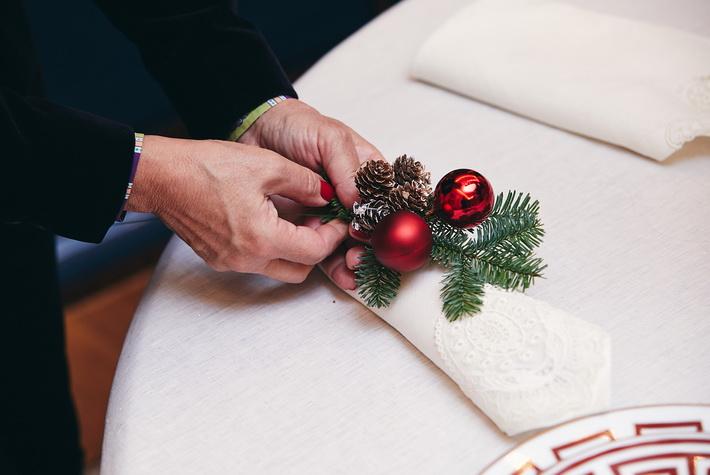 Сервировка новогоднего стола-идеи