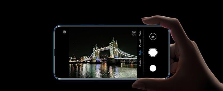 Смартфон Honor 9X 4 128Gb Sapphire Blue камера