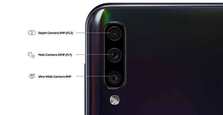 Смартфон Samsung A505 Galaxy A50 4 64Gb Black камеры