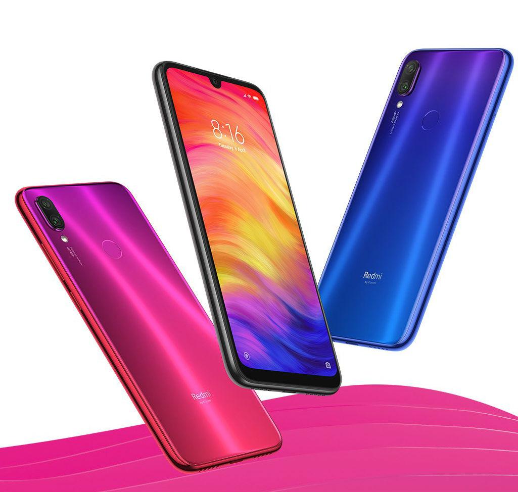 Смартфоны из Китая. Лидеры продаж на конец 2019 года - redmi note 7 три цвета