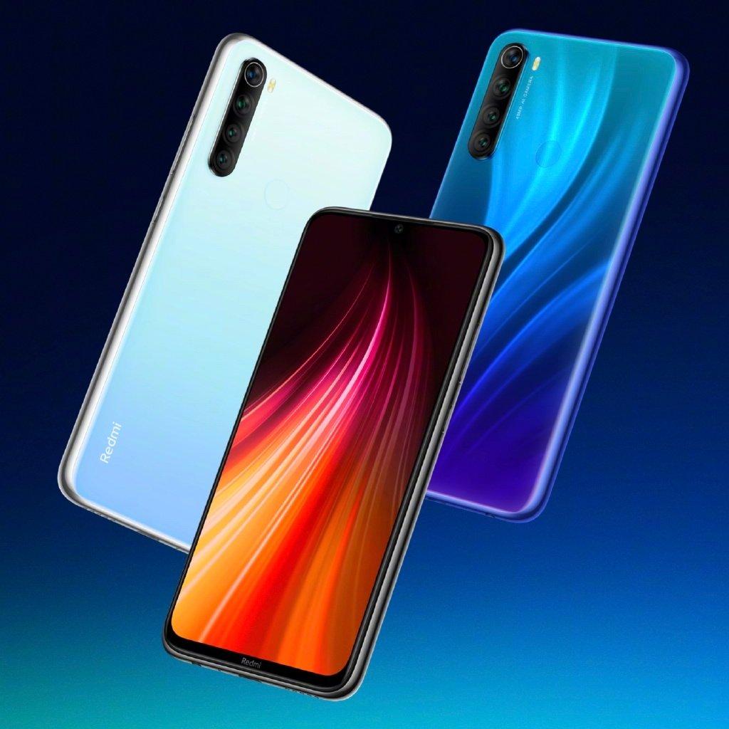 Топ-5 бюджетных смартфонов 2019 года - Xiaomi Redmi Note 8 в трех цветах