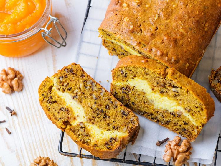 Тыквенный хлеб-крем чиз