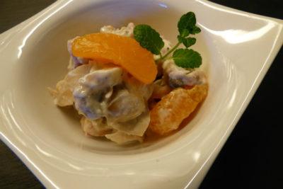 Ананасовый салат с грибами