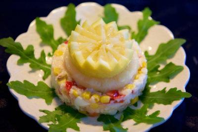 Ананасовый салат с рисом