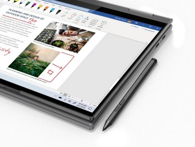 Lenovo Yoga 5G-поддержка стилуса