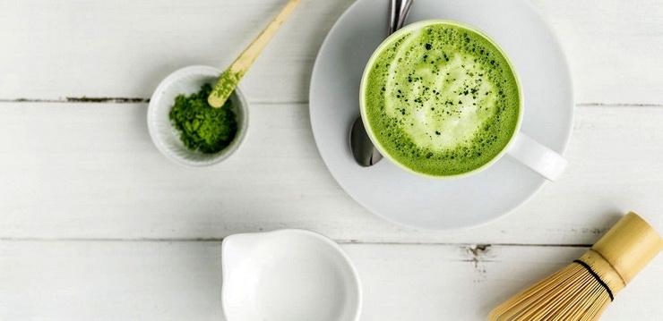 Матча-латте-напитки для бодрости