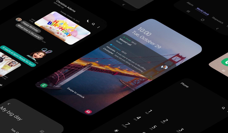 One UI 2.0. Что нового - темный режим