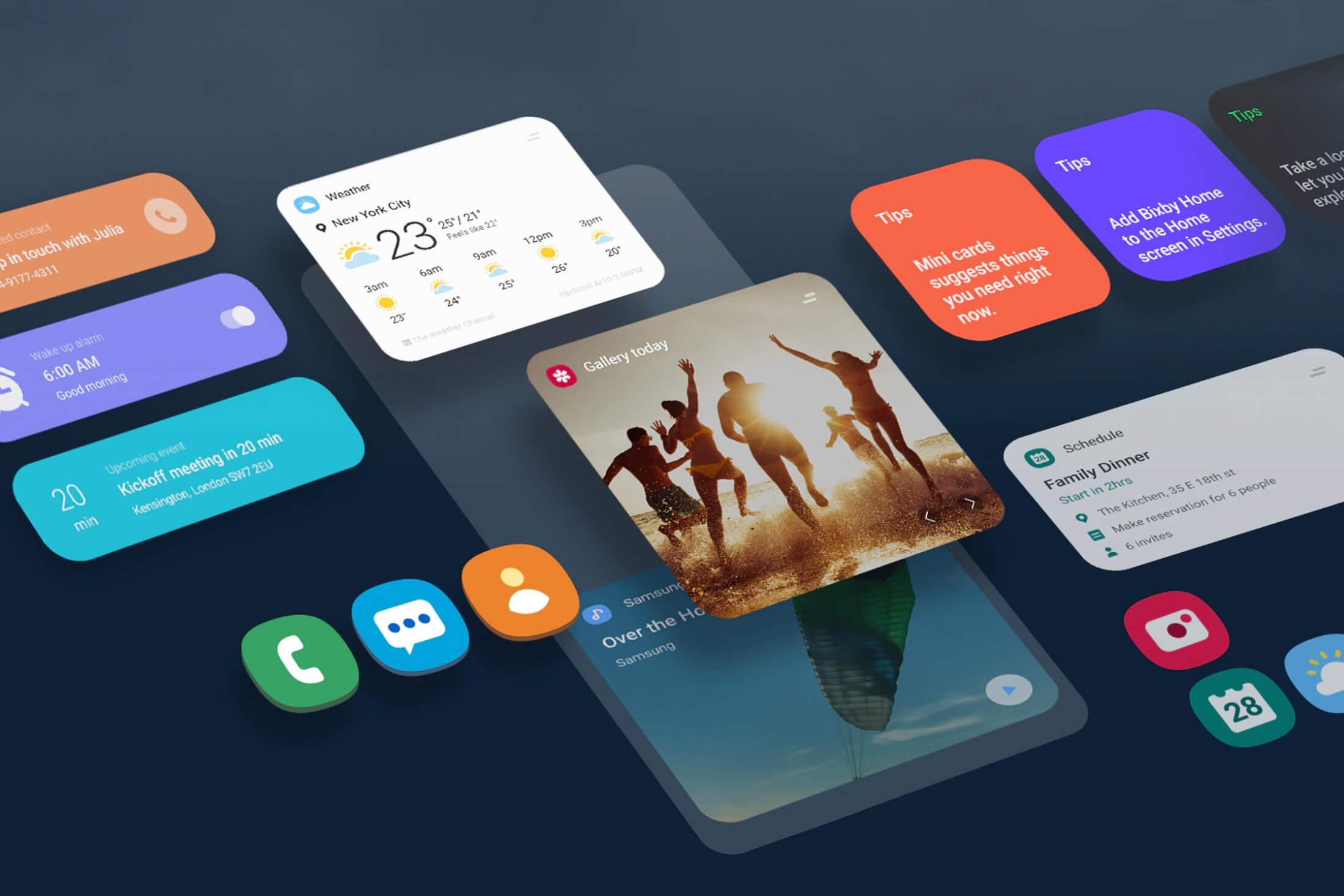 One UI 2.0. Что нового - входящее сообщение
