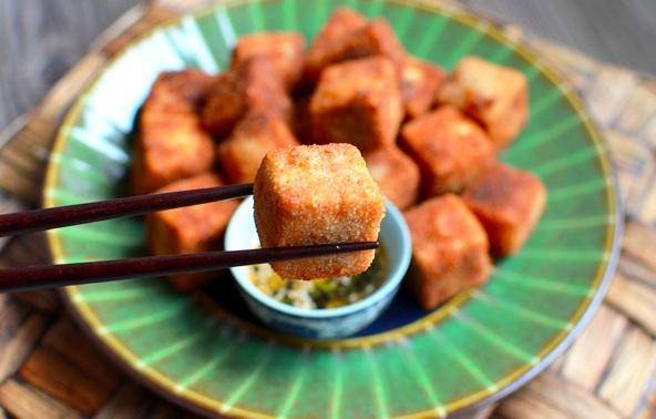 Жареный тофу-со специями
