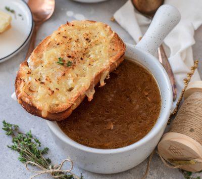 Суп с гренкой