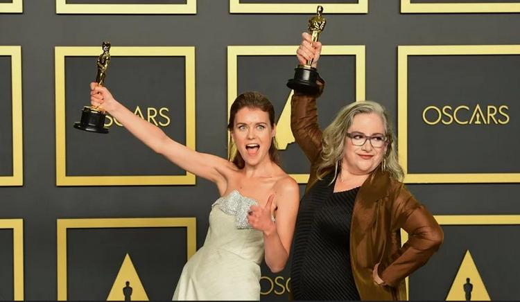 Елена Андрейчева и Кэрол Дайсингер-вручение Оскара