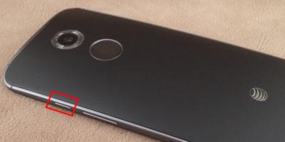 Приклад знаходження кнопки включення і виключення на смартфоні