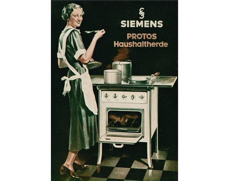 Реклама ретро-плиты Siemens
