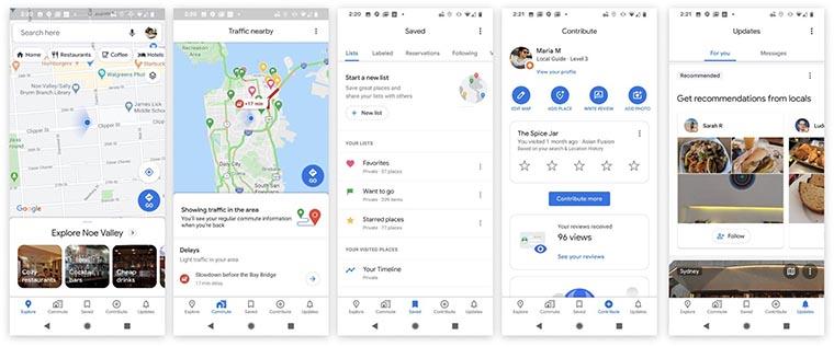 Скрины обновленный Google Maps