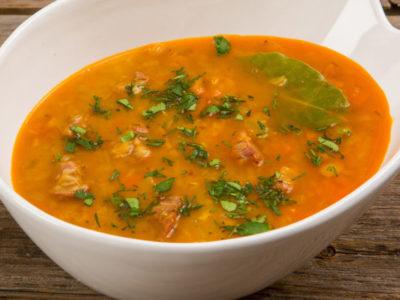 Суп з сочевиці з нутом і гарбузом