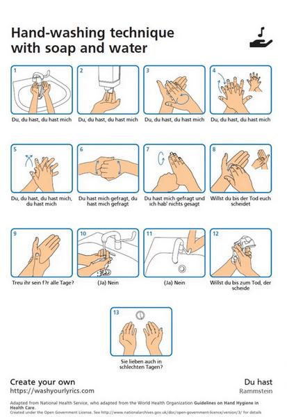 Как правильно мыть руки-Wash Your Lyrics