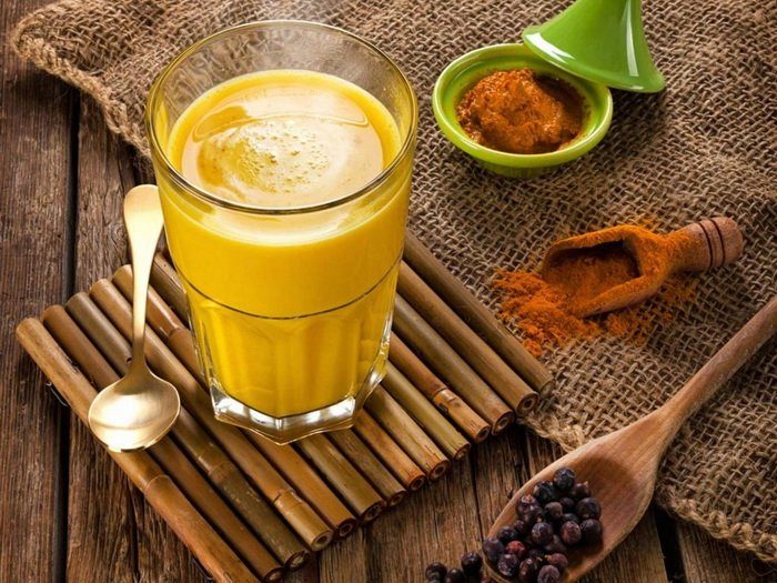Напиток с куркумой-доброго утра