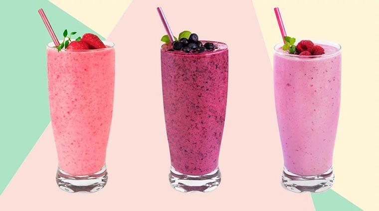Разные фруктовые смузи