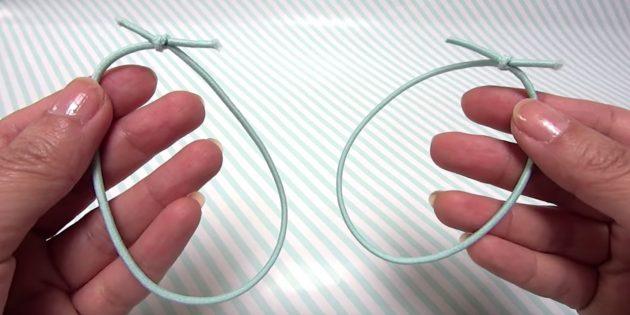 Тканевая маска-резинки шнур заготовка
