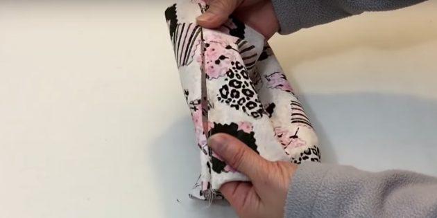 Тканевая медицинская маска со складкам-как сделать шаг 3