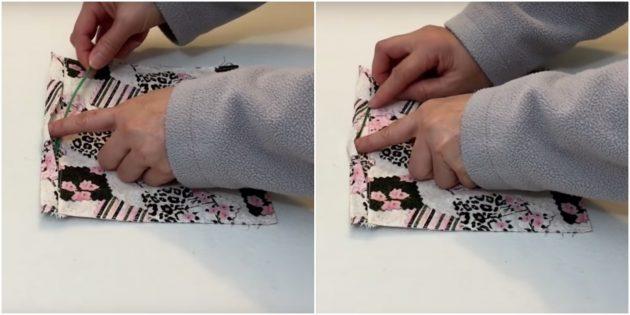 Тканевая медицинская маска со складкам-как сделать шаг 5