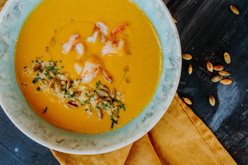 Тыквенный суп-по-азиатски
