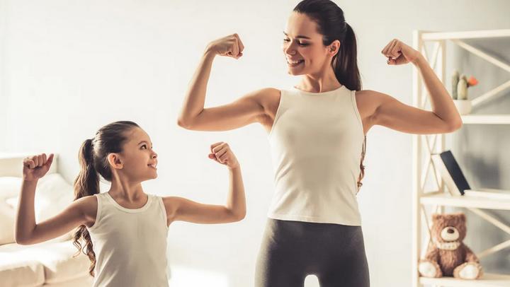 Спорт-мама и дочь