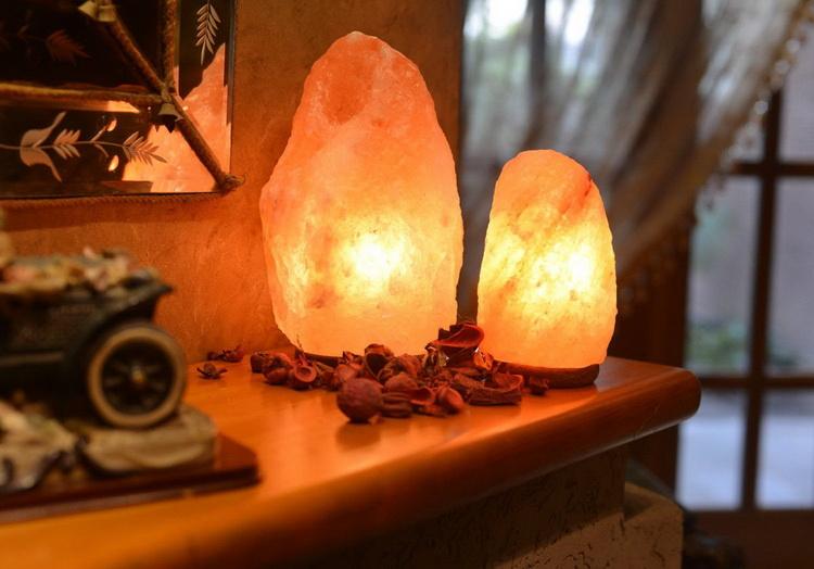 Солевая лампа-в интерьере