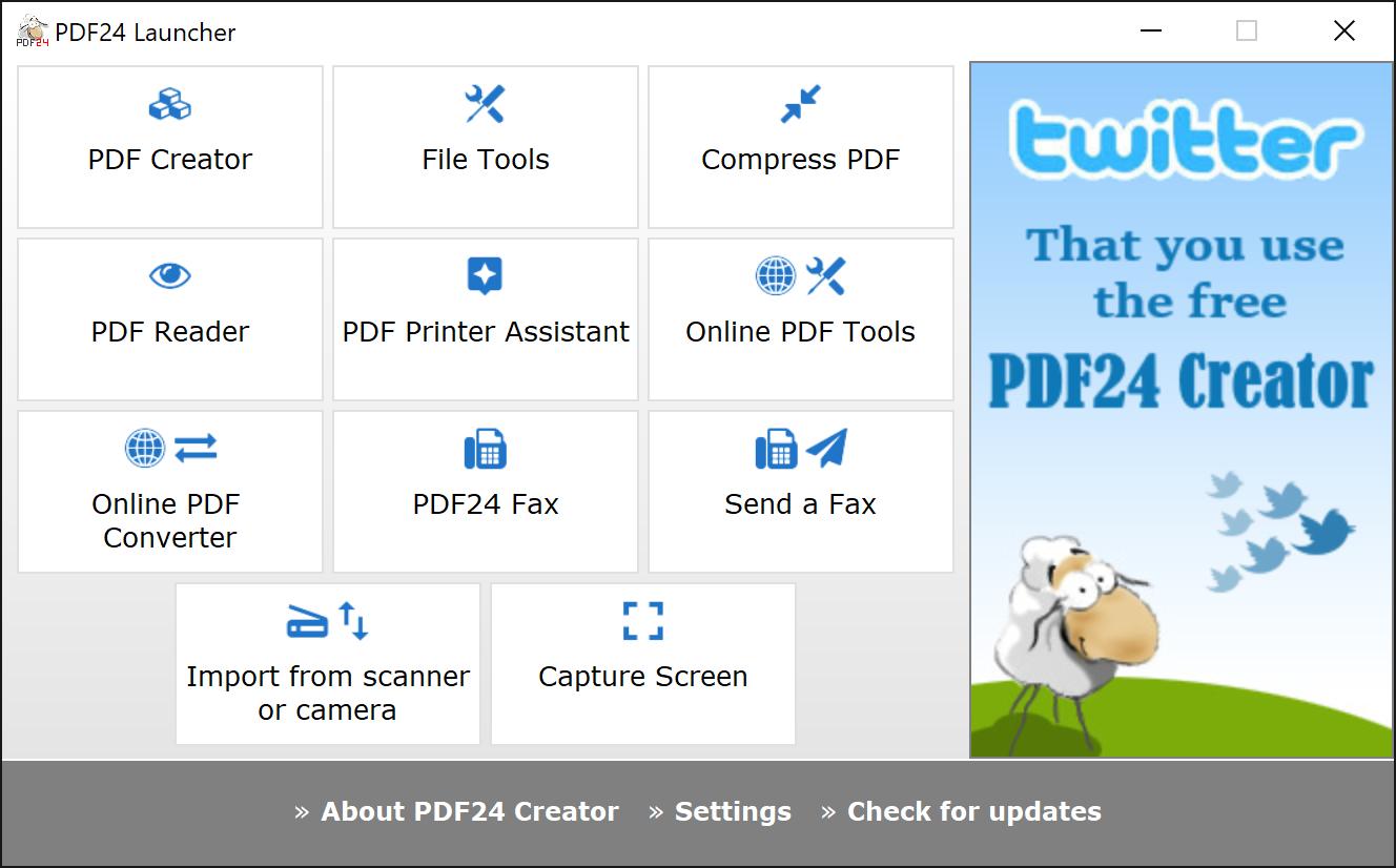 8 бесплатных программ для работы с PDF - pdf24 creator