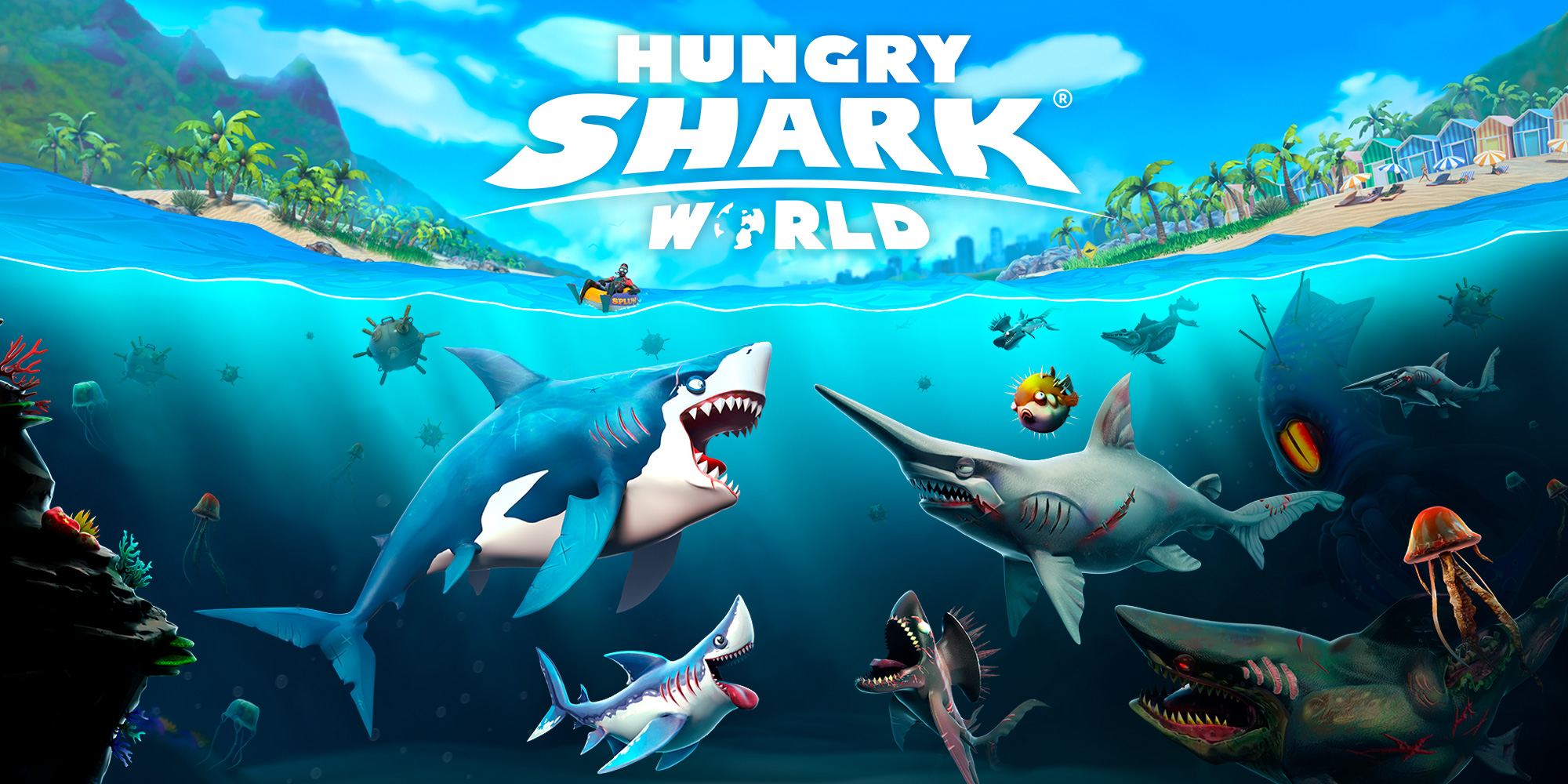 9 игр для андроид, работающих без интернета - hungry shark