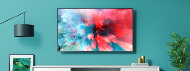 Xiaomi Mi TV UHD 4S-телевизор в интерьере