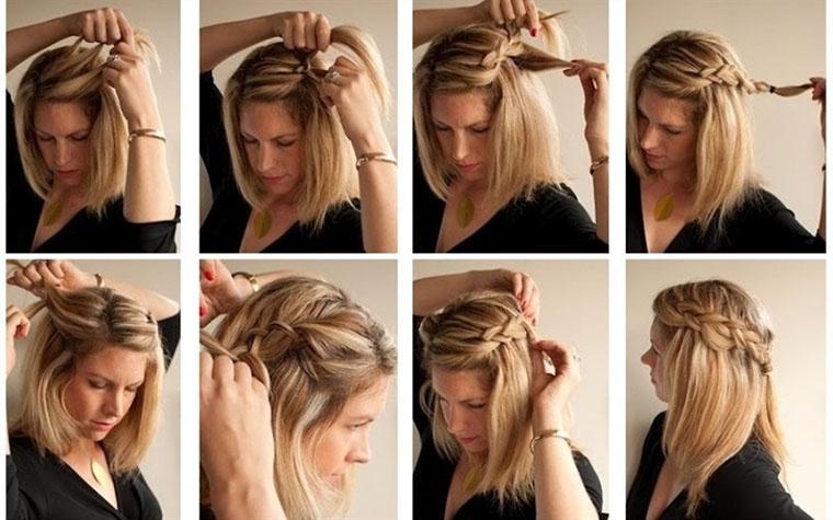 Зачіска з косами від проборів
